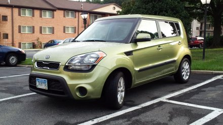 My 2012 Kia Soul, parked at Hewitt Gardens