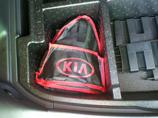 """On September 16, I got my first bit of loot from the Kia Key program. I got a roadside emergency kit, as well as a red """"Hamstar"""" hoodie."""