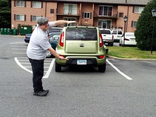 """This was another Kia Key prompt, taken September 22. This was similar to the """"pinch"""" photo, but using your arms instead of your fingers."""