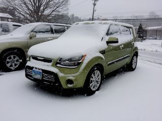 On January 21, we had yet another snowstorm. It didn't drop a whole lot of snow, but was enough to cover the car (always right after you get it washed!). The first cleanup wasn't bad by any means, as I was clear following a quick brushing.