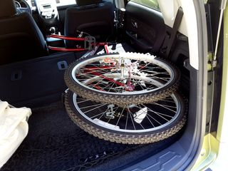 On June 6, I left on a trip to Stuarts Draft. I had some unusual cargo on this trip, as I brought my sister's old bicycle back to Stuarts Draft. At this point, I had acquired my own bicycle, and so this one was no longer needed.