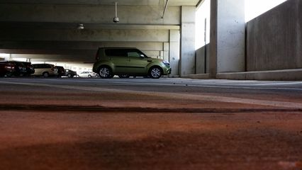 A somewhat low and distant shot in the Glenmont parking garage on June 16.