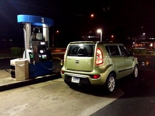 Fueling at Aspen Hill Gas on Georgia Avenue, up the street from where I lived at that time, onMay 19, 2015.