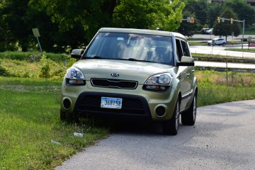 On July 14, 2016, the Soul made her first visit to York, Pennsylvania. Here, she is parked on the side of Whiteford Road while I went to go photograph a water tower.
