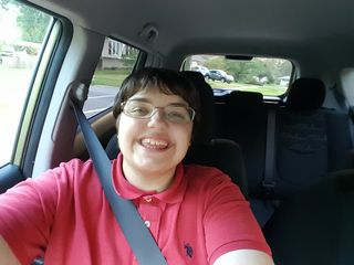 On August 12, Elyse commandeered my phone for a selfie while we were driving around a few neighborhoods looking at ugly houses.