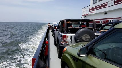 The Soul rides theMVRoanoke, a Hatteras-class ferryboat, to Ocracoke.