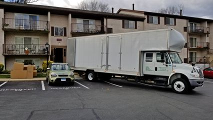 November 16 was moving day. The movers parked their truck right next to the Soul, still in her reserved space. They never asked me to move the car, because I otherwise would have. They just parked their truck next to it.