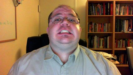 Making a face for the webcam at home.