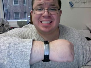 Watchband repair. Note the size of my wrist in this photo.