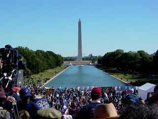 Million Worker March view from Lincoln Memorial