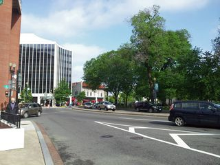 After several days of cloudy skies, the sky was once again visible, seen here in Dupont Circle.
