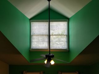 The master bedroom suite was, to put it charitably, colorful.