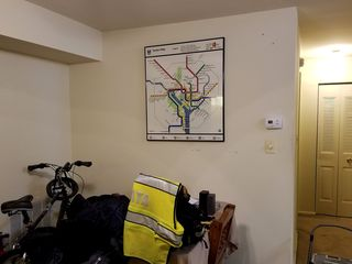 The Metro map was the last thing to come down. I put that up shortly after moving in, and it was there for the whole ten years. I was surprised to find its outline on the wall after I removed it. I suppose that's what happens when something's been hanging in one place for a decade.