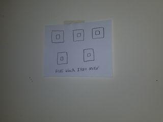 """Five black IKEA mirror""."