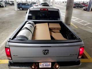 Our big haul loaded into the back of Kevin Wiggins.