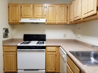The kitchen, returned to them in better condition than when I got it, considering the new floor.