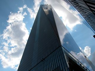1 World Trade Center, viewed from across Vesey Street.