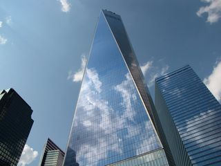 The beauty of One World Trade Center's design became more evident the further away that we moved from it.