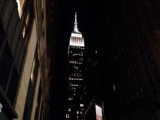 Approaching the Empire State Building.
