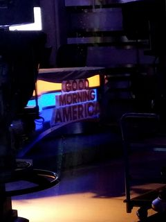 Good Morning America desk on the first floor of Times Square Studios.