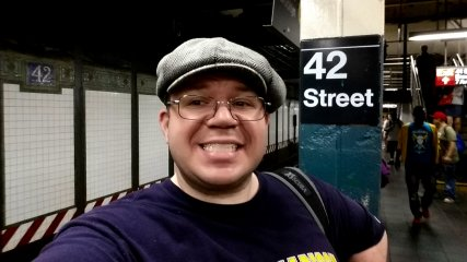 Selfie at 42nd/Times Square.