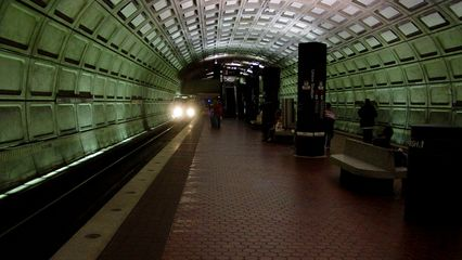 On the Metro, Union Station wasn't crowded by any means. It was quite quiet.