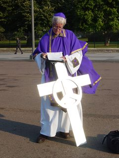 Meanwhile, David Barrows takes a moment to study his notes for the upcoming exorcism.