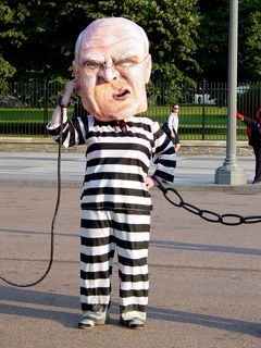 Dick Cheney took a moment to clean out his ears, and pick his nose.