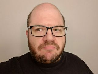 It's also easy to forget that I started out the year with a beard. I agreed that I wouldn't shave while I was off of work for four weeks following the weight loss surgery, and this was the final result right before I shaved it.