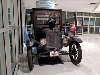 """We visited The Frederick Motor Company to take a Ford Ranger for a spin in order to redeem a gift card offer from the Auto Show, and while we were there, we spotted a """"Gertrude"""", i.e. a Ford Model T."""