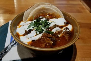 On February 5, Elyse and I went up to Fells Point, where we went to Bond Street Social and Barcocina to redeem some gift cards. At Bon Street Social, Elyse got an orange whip, among other drinks. At Barcocina, I got chili, while Elyse got some dessert tacos.
