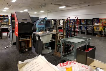 This is the other side of Spinners, where they're still restoring games and such. They eventually plan to have this section filled with games and open for playing, but it is very much a work in progress.