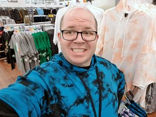 Some late night Walmart selfies.