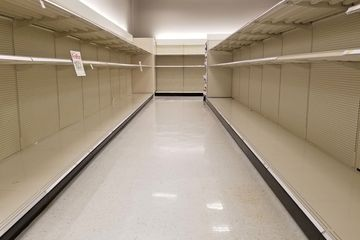 On March 10, we started to see the first sign of things to come at the Target store in Rockville, but we regarded it as more of a curiosity. As far as we could tell, it was just some people overreacting to the news, and making a run on the stores like a snowstorm was coming, and nothing more.