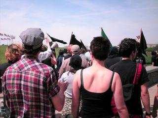 Marching towards the Washington Monument.