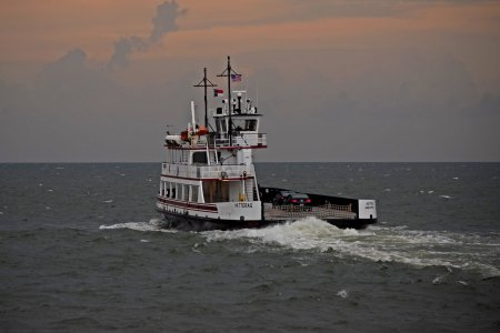 The Hatteras, a River-class ferryboat on the Hatteras-Ocracoke route