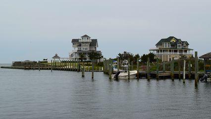 Houses near the ferry dock.