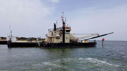 TheMerritt, a dredging vessel owned by the US Army Corps of Engineers.
