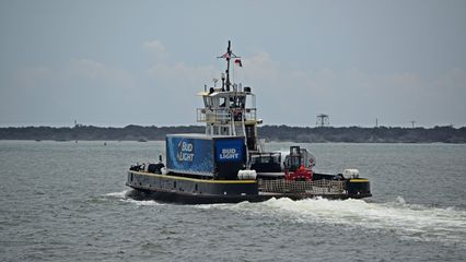 TheFrisco, another Hatteras-class ferry, carrying another beer truck. My mother, sister, and I rode theFrisco in 1997.