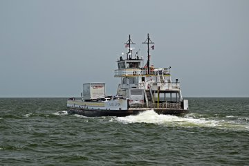 TheFloyd J. Lupton, another River-class ferry. Back in 2014, our ferry, the W. Stanford White,was right behind theLupton on our way back from Ocracoke.