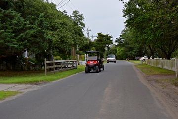 Riding along Lighthouse Road.