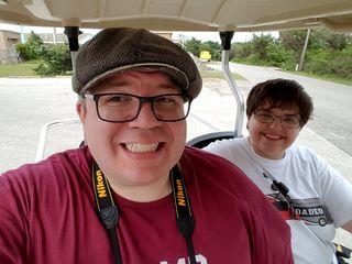 Golf cart selfie.