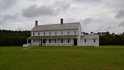 Lighthouse keeper's quarters, now a museum.