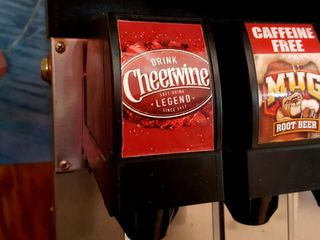 You know that you're in the South when they have Cheerwine on the soda fountain.