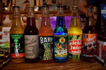 Our take from Rocket Fizz for our second round of novelty sodas.