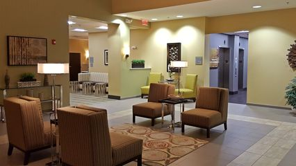 The lobby of the Best Western in Thornburg. Not bad, though nothing to write home about, either.