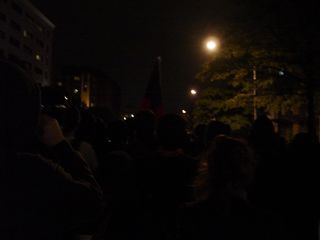 Marching up Pennsylvania Avenue towards Georgetown...
