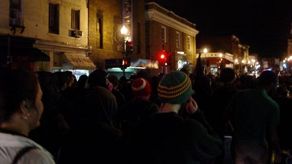 The demonstration continues, returning to Wisconsin Avenue.
