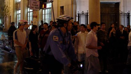 All the while, the march continued, as it turned east on M Street.