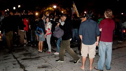 The demonstration ended at Foggy Bottom Metro, where everyone congregated before leaving.